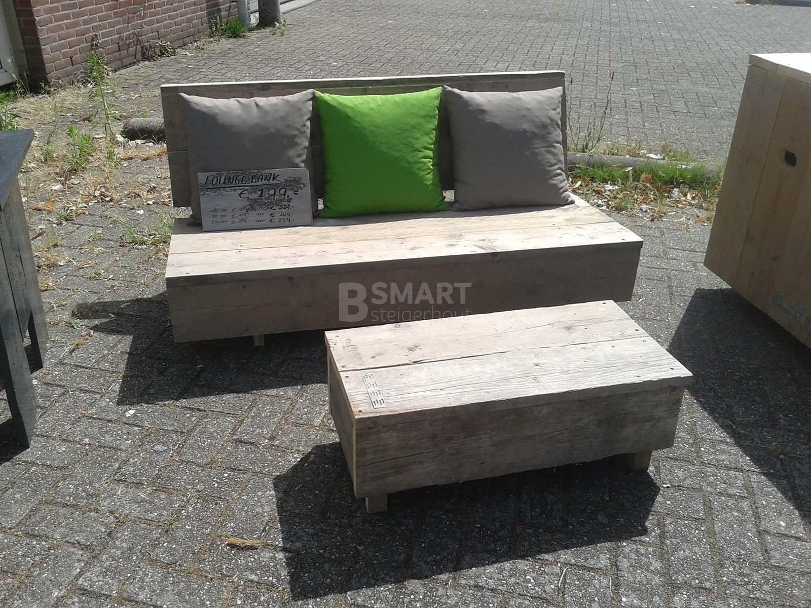 Lage loungebank steigerhout b smart steigerhout for Loungebank steigerhout