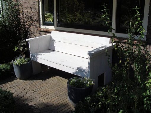 Steigerhout tuinbank simpel model