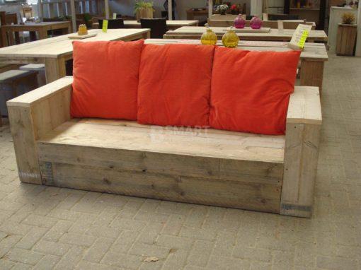 Stoere steigerhouten loungebank van Bsmart goedkoop steigerhout