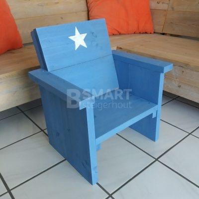 Stoere loungestoel van steigerhout voor kinderen