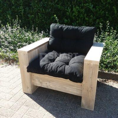 Heerlijke loungestoel van steigerhout gemaakt door Bsmart steigerhout