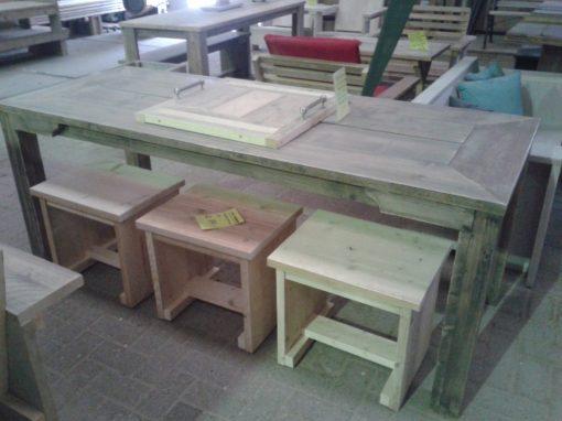 Steigerhouten kruk meubelen van steigerhout Huizen steigerhout Naarden