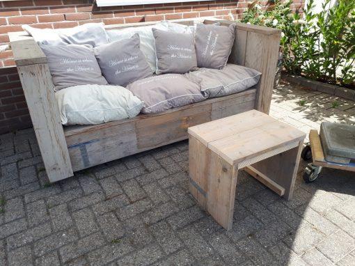 SALE loungebank steigerhout showmodel