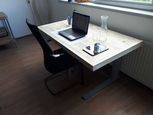 Steigerhout bureau verstelbaar 1